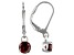 Brown Zircon sterling silver earrings 1.20ctw