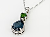 Bue Kyanite Sterling Silver Pendant with Chain 1.74ctw