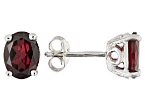 Raspberry color rhodolite rhodium over silver earrings 2.38ctw