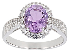 Purple Amethyst Rhodium Over Sterling Silver Ring 2.71ctw