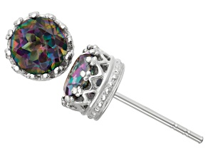 Rainbow Topaz Sterling Silver Stud Earrings 1.68ctw