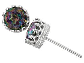Rainbow Topaz Sterling Silver Stud Earrings 1.68ctw