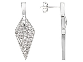 White Topaz Sterling Silver Earrings .67ctw.