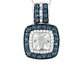 Blue Brazilian Aquamarine Sterling Silver Pendant With Chain 2.75ctw