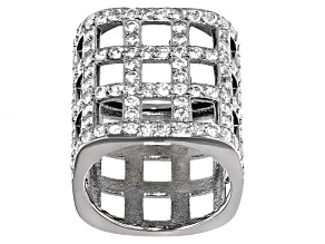 White Topaz Black Tone Sterling Silver Ring 2.35ctw