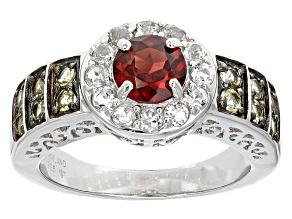 Red Garnet Sterling Silver Ring 1.50ctw