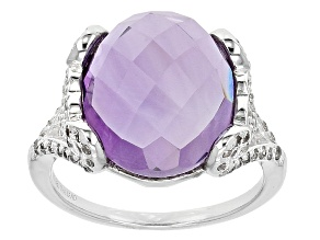 Orchid Brazilian Amethyst Sterling Silver Ring 8.31ctw
