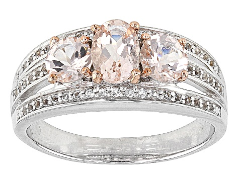Pink Morganite Sterling Silver Ring 2.07ctw