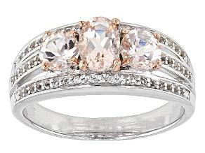 Pink Morganite Sterling Silver Ring 2.07ctw