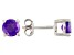 Purple Zambian Amethyst Sterling Silver Earrings 1.44ctw