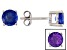 Blue Color Change Fluorite Sterling Silver Stud Earrings 2.00ctw