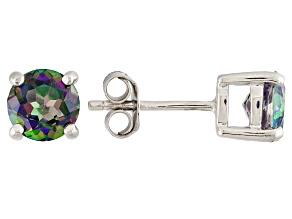 Mullticolor Topaz Sterling Silver Earrings 2.18ctw