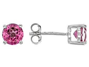 Pure Pink™ Topaz Sterling Silver Stud Earrings 2.18ctw