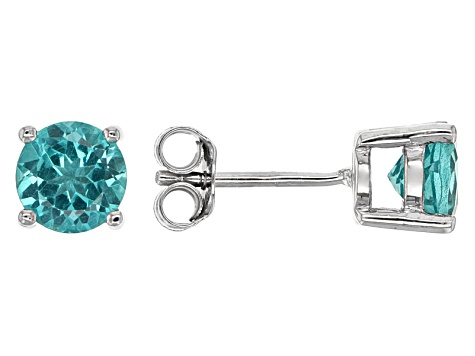 ab9f01716 Paraiba Color Apatite Sterling Silver Stud Earrings 1.50ctw - SWI816 ...