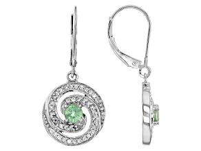 Green Mint Kyanite Sterling Silver Earrings 1.02ctw