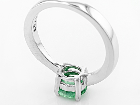 Green Mint Kyanite Sterling Silver Ring .76ct
