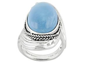 Blue Oregon Opal Sterling Silver Ring