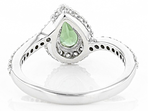 Green Apatite Sterling Silver Ring .99ctw
