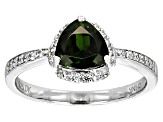 Green Chrome Diopside Sterling Silver Ring 1.50ctw
