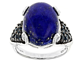 Blue Lapis Sterling Silver Ring .40ctw