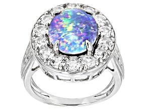 Multicolor Australian Opal Triplet Sterling Silver Ring 2.03ctw
