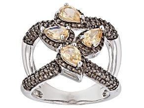 Golden Hessonite Sterling Silver Ring 2.17ctw