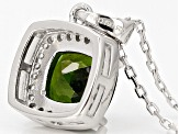Green Chrome Diopside Sterling Silver Ring 1.74ctw