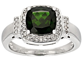 Green Chrome Diopside Sterling Silver Ring 2.01ctw