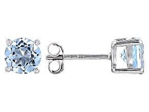 Sky Blue Topaz Sterling Silver Earrings 2.02ctw