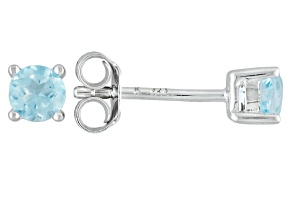 Sky Blue Topaz Sterling Silver Stud Earrings .60ctw
