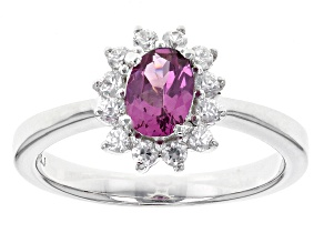 Purple Rhodolite Sterling Silver Ring .83ctw