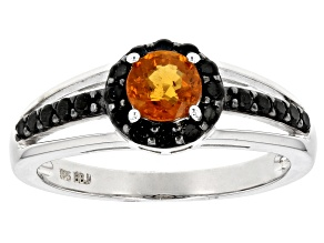 Orange Mandarin Garnet Sterling Silver Ring .91ctw