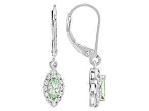Green Tsavorite Sterling Silver Dangle Earrings .61ctw