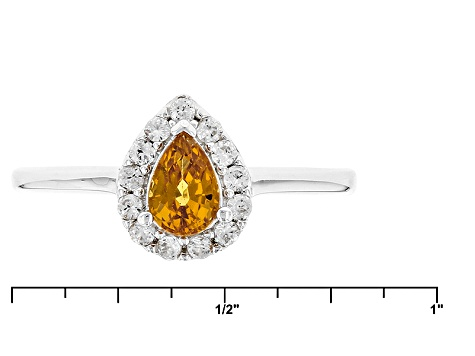 Orange Mandarin Garnet Sterling Silver Ring .70ctw