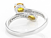 Orange Spessartite Sterling Silver Bypass Ring .78ctw