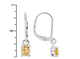 Orange Spessartite Sterling Silver Solitaire Earrings .68ctw