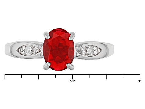 Red Ethiopian Opal Sterling Silver Ring .64ctw