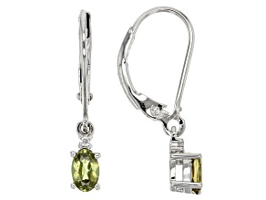 Green Demantoid Garnet Sterling Silver Earrings .50ctw
