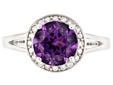 Purple African Amethyst Sterling Silver Ring 1.52ctw