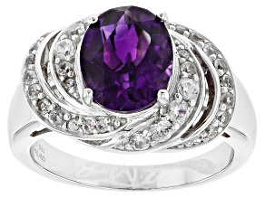 Purple Moroccan Amethyst Sterling Silver Ring 2.65ctw