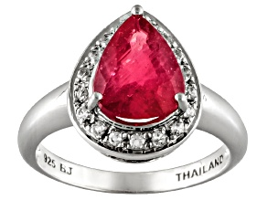 Mahaleo Ruby 2.75ct With .72ctw White Topaz Sterling Silver Ring