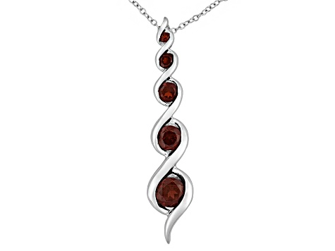 Vermelho Garnet™ 1.72ctw Sterling Silver Pendant With Chain