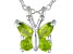 Manchurian Peridot ™ .43ctw Sterling Silver Butterfly Pendant With Chain