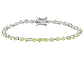Manchurian Peridot ™ 3.85ctw Sterling Silver Bracele