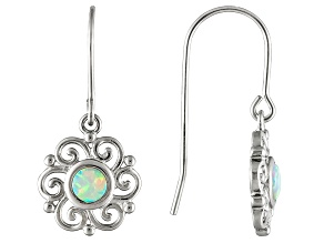 Synthetic Opal Sterling Silver Earrings