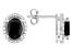 Black Spinel Sterling Silver Stud Earrings 2.70ctw