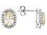 Yellow Labradorite Sterling Silver Stud Earrings 1.87ctw