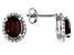 Red Garnet Silver Earrings 2.80ctw