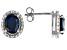 London Blue Topaz Silver Earrings 2.56ctw