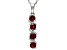 Vermelho Garnet ™ 1.05ctw Sterling Silver 4-Stone Pendant With Chain